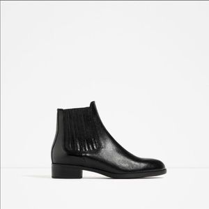 Leather Zara black Chelsea boots